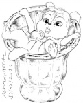 2011 alvin_and_the_chipmunks anthro black_and_white cherry chipettes chipmunk david_siegl eleanor_miller female fluffy_tail food greyscale ice_cream mammal monochrome pussy rodent solo teeth   Rating: Explicit  Score: 5  User: BushyTailHugger  Date: March 28, 2013