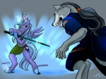 2012 anthro anthrofied black_hair blood blue_fur blue_hair canine cutie_mark duo equine friendship_is_magic fur grey_fur hair horn mammal melee_weapon my_little_pony princess_luna_(mlp) rama_tibal sword the_cyantian_chronicles tiffany_ross weapon winged_unicorn wings wolf  Rating: Questionable Score: -1 User: Googlipod Date: November 30, 2015