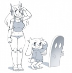 ambiguous_gender anthro blush breasts cave_story clothing curly_brace female ghost group lagomorph long_ears machine mammal mimiga monochrome mouthless noill open_mouth panties robot salute scar simple_background smile spirit sue_sakamoto sweater underwear video_games waving  Rating: Safe Score: 18 User: ROTHY Date: February 15, 2016
