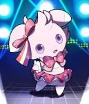ambiguous_gender bow clothing dress espurr fuchsia_(artist) looking_at_viewer nintendo pokemon_contest pokémon solo standing stare tutu video_games   Rating: Safe  Score: 8  User: Neitsuke  Date: December 12, 2014