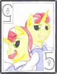 card cardstock duo equine flam_(mlp) flim_(mlp) friendship_is_magic hair horn male mammal my_little_pony playing_card red_hair smile spade the1king traditional_media_(artwork) unicorn   Rating: Safe  Score: -4  User: The1King  Date: January 11, 2014