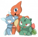 armpits balls charmeleon doneru erection feral group ivysaur male male/male nintendo penis pokémon semi-anthro simple_background tapering_penis video_games wartortle white_background