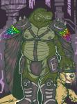 alligator anthro armor bear belly biceps big_muscles boots bulge cape clothing dramamine drooling duo fangs footwear fur harness leather looking_at_viewer lying male mammal musclegut muscular muscular_male nipple_piercing nipples overweight pecs piercing pose rainbow reptile saliva scalie slave spikes teeth thong unconvincing_armor visor yellow_fur  Rating: Questionable Score: 7 User: unforget Date: October 10, 2014