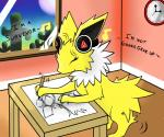 bagabundis cactus clock eeveelution headphones jolteon music nintendo pencil pokémon ryugadaisukidesu sketch solo table video_games   Rating: Safe  Score: 6  User: ryugadaisukidesu  Date: January 23, 2014