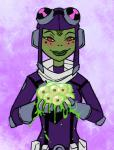 alien amphibian ben_10 blush clothing egg eyewear female freckles frog gloves goggles green_lips green_skin lips looking_at_viewer princess_attea red_eyes smile solo yellow_sclera  Rating: Questionable Score: 0 User: Juni221 Date: June 05, 2015""