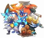 amphibian attack avian bird canine dugtrio fox frog greninja haychel jackal looking_back lucario nintendo pokémon pose samurott smile standing talonflame tongue video_games zoroark   Rating: Safe  Score: 8  User: Toothless-chan  Date: December 23, 2013