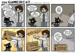 anthro box brown_hair cardboard_box cat comic dialogue english_text eyewear feline gamercat_(character) glasses hair human konami male mammal metal_gear otacon samantha_whitten smile solid_snake text the_gamercat the_truth video_games  Rating: Safe Score: 33 User: Robinebra Date: July 20, 2013