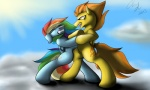 2013 amber_eyes angry battle blood blue_feathers blue_fur clenched_teeth cloud cutie_mark duo equine eyes_closed feathered_wings feathers female feral fight friendship_is_magic fur hair inkybeaker mammal multicolored_hair my_little_pony outside pegasus rainbow_dash_(mlp) rainbow_hair sky spitfire_(mlp) teeth wings wonderbolts_(mlp) wounded yellow_feathers yellow_fur  Rating: Safe Score: 2 User: ConsciousDonkey Date: April 23, 2016