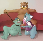 anthro bear cat chubby clothing cum erection feline group leash leash_pull licking male male/male mammal neenya oral penis penis_lick penis_nuzzling sex smile tongue tongue_out  Rating: Explicit Score: 5 User: nefroser Date: September 04, 2014