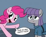 """2014 blue_eyes clothing dress duo earth_pony english_text equine female friendship_is_magic frock hair happy horse mammal maud_pie_(mlp) my_little_pony pink_hair pinkie_pie_(mlp) pony purple_hair sibling sisters text whatsapokemon  Rating: Safe Score: 14 User: 2DUK Date: January 02, 2015"""""""
