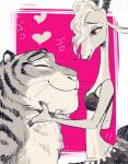 <3 amber_eyes antelope anthro breasts disney duo eyes_closed feline female gazelle gazelle_(zootopia) horn male mammal predator/prey simple_background small_breasts smile source_request stripper_tiger_(zootopia) tiger unknown_artist zootopia  Rating: Safe Score: 5 User: slyroon Date: April 27, 2016