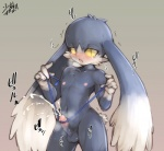 anthro balls black_eyes blush cat cum cumshot erection feline hands-free humanoid_penis japanese_text klonoa klonoa_(series) male mammal masturbation orgasm panting penile_masturbation penis ribbons shaking shaolin_bones solo standing text trembling yellow_sclera  Rating: Explicit Score: 7 User: chdgs Date: September 01, 2015