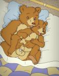 anal anal_penetration anthro balls barefoot bear bed bedcovers bird's-eye_view cub cum_from_ass duo father father_and_son father_bear high-angle_shot incest little_bear little_bear_(character) male male/male mammal nelson88 nude on_bed on_top open_mouth parent penetration penis pillow sheath small_penis son under_covers young  Rating: Explicit Score: 18 User: Circeus Date: November 17, 2015