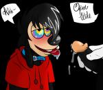 a_goofy_movie anthro black_background black_fur blush canine collar disney dog duo fur hi_res hypnosis male male/male mammal max_goof mind_control penis plain_background precum saliva solo_focus text xxtmntfanxx81277   Rating: Explicit  Score: 1  User: Pokelova  Date: May 14, 2015