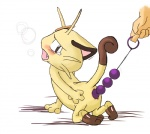 ambiguous_gender anal anal_beads anthro butt cat crying feline hindpaw mammal meowth nintendo paws pokémon sex_toy simple_background tears unknown_artist video_games white_background  Rating: Explicit Score: 1 User: jimfoxx Date: June 08, 2011