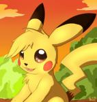 2015 ambiguous_gender black_fur black_nose brown_eyes cloud cute eraquis feral fur looking_at_viewer nintendo open_mouth outside pikachu pokémon sky solo sunset tongue tree video_games yellow_fur  Rating: Safe Score: 5 User: Granberia Date: November 22, 2015