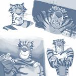 anthro clothed clothing crossed_arms feline hi_res madagascar male mammal multiple_poses polartoons pose solo tiger topless vitaly_the_tiger  Rating: Safe Score: 3 User: Optisiast Date: February 22, 2016