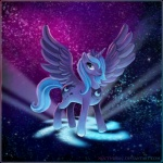 cutie_mark equine female feral friendship_is_magic galaxy horn mammal milky_way my_little_pony noctudelic princess_luna_(mlp) solo standing stars winged_unicorn wings   Rating: Safe  Score: 10  User: IHateRule34  Date: July 12, 2011