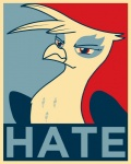 avian election equestria-election female friendship_is_magic gilda_(mlp) gryphon hate my_little_pony parody poster propaganda shepard_fairey solo   Rating: Safe  Score: 3  User: Skiltaire  Date: June 09, 2011