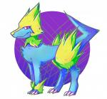 ambiguous_gender blue_fur canine claws feral fur hi_res jaidenanimations mammal manectric nintendo pokémon red_eyes simple_background solo video_games white_background yellow_furRating: SafeScore: 1User: Rad_DudesmanDate: January 16, 2017