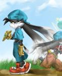 anthro clothed clothing collar footwear gloves half-dressed hat klonoa klonoa_(series) long_ears male ring shaolin_bones shoes shorts solo tears topless yellow_eyes zipper   Rating: Safe  Score: 4  User: cowtown  Date: November 03, 2014