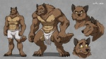 2012 abs anthro biceps big_muscles black_nose boxers brown_fur canine claws clothed clothing fangs fur grin half-dressed inpu loincloth male mammal muscles nipples pecs pose smile solo standing toe_claws topless underwear were werewolf wfa wolf yellow_eyes   Rating: Safe  Score: 27  User: unforget  Date: January 28, 2013