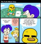 <3 animal_crossing anthro avian bird blonde_hair blue_hair canine comic creepy diaper duck female group hair human humor isabelle_(animal_crossing) male mammal nintendo running sweat technicolorpie video_games what  Rating: Safe Score: 7 User: The_Masked_Newfag Date: June 07, 2015