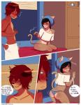 """ambiguous_gender angellove44 bulge butt cat clothed clothing comic duo erection feline girly half-dressed male mammal penis presenting presenting_hindquarters towel  Rating: Questionable Score: 22 User: angelyeah Date: February 25, 2015"""""""