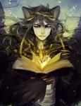 2014 ambiguous_gender animal_ears book feathers hair heterochromia human jotaku looking_at_viewer magic mammal nus_(character) solo wings   Rating: Safe  Score: 3  User: Knotty_Curls  Date: May 12, 2015