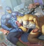 2016 abs anthro avian balls beak biceps big_muscles bird black_nose blue_eyes canine city clenched_teeth cum cum_on_arm cum_on_chest cum_on_face cum_on_leg cum_on_penis cum_on_self cum_on_stomach cumshot day detailed_background erection falco_lombardi fellatio fox fox_mccloud green_eyes hand_on_penis hi_res humanoid_penis interspecies macro male male/male mammal muscular nintendo nipples nude one_eye_closed open_mouth oral orgasm outside pecs penis raccoon21 sex signature spread_legs spreading star_fox teeth tongue vein video_games watermark  Rating: Explicit Score: 7 User: togepi1125 Date: February 25, 2016