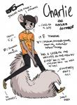 anthro black_hair blush charlie clothing dormouse english_text eyewear glasses hair hipster jeans male mammal model_sheet rodent shirt skinny sneakers solo text urbangrizzly   Rating: Questionable  Score: 0  User: Occam  Date: December 26, 2014