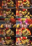 2016 3d_(artwork) absurd_res anthro areola big_breasts bikini bowser breasts cgi cleavage clothed clothing digital_media_(artwork) erect_nipples female hi_res huge_breasts human koopa male mammal mario mario_bros nintendo nipple_bulge nipples princess_peach scalie swimsuit urbanator video_games  Rating: Questionable Score: 12 User: Robinebra Date: January 05, 2016