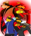 anthro belt brown_eyes brown_hair canine crossover demond eyewear glasses green_eyes group gun hair jacket male mammal nicroxes_(thony_dog) ranged_weapon smile sniper sniper_(team_fortress_2) sora_rock team_fortress_2 thony_dog vest warrior weapon   Rating: Safe  Score: 0  User: Thony_Dog  Date: October 12, 2014