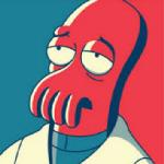 anthro arthropod blue_background clothing crustacean decapodian doctor_zoidberg futurama lobster low_res male marine red_background simple_background solo unknown_artist
