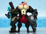 2017 3d_(artwork) abs amphibian anthro anthroanim balls bastion_(overwatch) biceps big_balls big_breasts big_butt big_penis breasts bulge butt clothing digital_media_(artwork) erect_nipples female greninja huge_balls huge_butt huge_thighs humanoid hyper hyper_balls hyper_muscles hyper_thighs long_tongue machine male muscular muscular_male nintendo nipples omnic outline overwatch pecs penis pokémon ranged_weapon robot s.o.r.u. sebastian_greninja simple_background speedo standing swimsuit thick_thighs tongue tongue_out video_games weapon wide_hipsRating: ExplicitScore: 3User: themeshow101Date: July 11, 2017