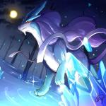 all_fours ambiguous_gender barefoot crystal detailed feral forest inosuke0101 legendary_pokémon moon night nintendo nude outside pokémon pokémon_(species) red_eyes solo sparkles suicune tree video_games waterRating: SafeScore: 9User: DatDAMNDergDate: April 18, 2018