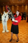 ambiguous_gender canine cosplay female fursuit gears_of_war gun human humor hunting lancer mammal mavericks mff mff_2008 ranged_weapon real sarah_palin unknown_artist weapon westiebetch wolf   Rating: Safe  Score: 4  User: Anomynous  Date: December 01, 2008