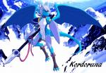 anthro armor atsidas blue_eyes digigrade dragon female flying hair horn kordoruna mountain polearm shield spear white_hair wings   Rating: Safe  Score: 7  User: vexjesh  Date: March 09, 2014