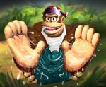 after_sex anthro ape bandanna clothing cum cum_on_feet donkey_kong_(series) donkey_kong_country eyewear foot_fetish footjob forest funky_kong gay gorilla looking_at_viewer male messy primate rand shorts spreading sunglasses tree vest   Rating: Explicit  Score: 0  User: unforget  Date: March 06, 2014