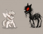 apple_bloom_(mlp) bone cub duo equine eye_contact fear female feral fonne friendship_is_magic horse mammal my_little_pony pony story_of_the_blanks undead young zombie  Rating: Safe Score: 6 User: Sods Date: March 15, 2013