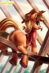 2014 anus applejack_(mlp) bedroom_eyes big_butt blonde_hair butt caboni32 clitoris clothing construction earth_pony equine exposed female feral freckles friendship_is_magic fur green_eyes hair half-closed_eyes hammer hat hi_res hooves horse innuendo long_hair looking_at_viewer looking_back mammal my_little_pony nails orange_fur pony pussy raised_tail rear_view seductive shirt signature smile solo tools  Rating: Explicit Score: 21 User: Fur_in_the_dark Date: September 08, 2014