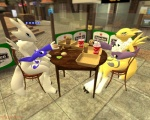 alternate_color ambiguous_gender anthro bandai burger canine cola couple date digimon dinner duo female food fox fun gmod mammal renamon sandwich_(food)   Rating: Questionable  Score: 0  User: Willy-fox  Date: September 23, 2011