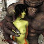 3d bestiality black_hair breasts canine elf feral green_skin hair human interspecies mammal navel nipples nude tattoo vaesark were werewolf   Rating: Questionable  Score: 2  User: lilicalover  Date: April 10, 2014