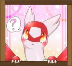 3_fingers ? ambiguous_gender blush claws cute eruku feathers feral latias legendary_pokémon looking_at_viewer nintendo open_mouth pokémon red_feathers solo video_games white_feathers  Rating: Safe Score: 7 User: DeltaFlame Date: April 22, 2016
