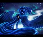 2015 blue_eyes blue_feathers blue_fur blue_hair equine feathered_wings feathers female feral friendship_is_magic fur hair horn lanteria looking_at_viewer mammal my_little_pony princess_luna_(mlp) sky solo star winged_unicorn wings  Rating: Safe Score: 16 User: ConsciousDonkey Date: January 12, 2016