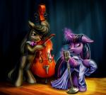 2014 black_hair bow_tie cello clothing cutie_mark dress duo earth_pony equine eyes_closed female friendship_is_magic fur glowing grey_fur hair harwick horn horse levitation long_hair magic mammal microphone multicolored_hair musical_instrument my_little_pony octavia_(mlp) open_mouth pony purple_eyes purple_fur purple_hair singing sparkles twilight_sparkle_(mlp) two_tone_hair winged_unicorn wings  Rating: Safe Score: 13 User: 2DUK Date: June 04, 2014