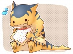 ambiguous_gender bipedal capcom chibi cute flying_wyvern igriega monster_hunter musical_note poptart scalie solo tigrex video_games wyvern   Rating: Safe  Score: 9  User: e17en  Date: March 13, 2015