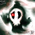 ambiguous_gender bone cracked duskull ghost looking_at_viewer nightmare_fuel nintendo not_furry pokemonfromhell pokémon pokémon_(species) red_eyes skull solo source_request spirit video_games