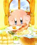 alien bacon blue_eyes blush bread breakfast drooling food fried_egg kirby kirby_(series) male nintendo not_furry pancake salad saliva solo video_games waddling_head きーうぃ(もひ)  Rating: Safe Score: 2 User: Cαnε751 Date: January 25, 2016
