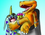 3_toes agumon bigbang digimon dinosaur duo gabumon hindpaw horn laugh licking male paws scalie sharp_teeth teeth tickling toes tongue tongue_out torture  Rating: Safe Score: 1 User: Stormsoul22 Date: January 24, 2013""